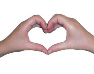 hands create a heart