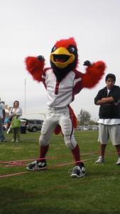 Cardinal mascot does the HeartMark Hop!