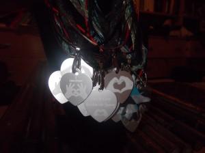 HeartMark Heart Hand dog tag variety