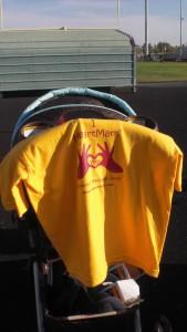 I HeartMark You, open finger T-shirt! on promo day for Shape Up AZ