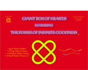 box full of hearts and power of infinite goodness, an interactive building toy