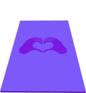 Yoga Mat, HeartMark Hands Connect through Love