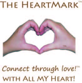 HeartMark heart hand photo, name, slogan connect through love, and original company name With All My Heart!