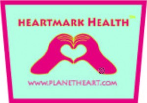 Heart Hand HeartMark Health logo to teach nutrition and fitness and registered trademark by Planet Heart