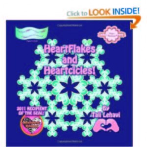 Heartflakes and Heartcicles is a coloring book from Planet Heart about snow that is made completely only from hearts!  Mandala,arabesque, kaleidoscopes of hearts!