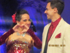 HeartMarking Heart Hand gesture at AZ Dancing With the Stars, representing my dance performance with Glenn Hamer